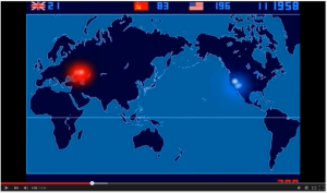 Nuclear testing animated timeline