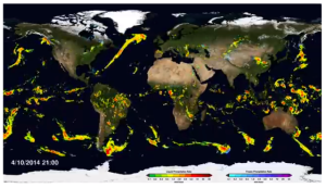 Global precipitation map