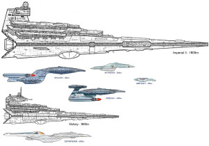 StarWars-StarTrek ship comparison