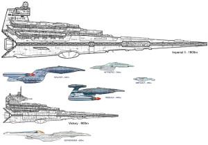 StarWars-StarTrek ship comparison