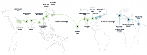 Solar Impulse 2 route map