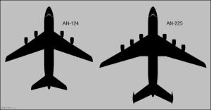 An-124 & 225 planform comparison
