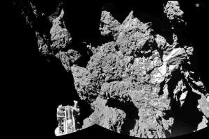 Philae landing photo
