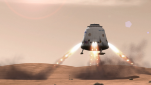 Red Dragon landing on Mars