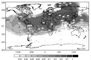 Regional war cloud dispersion 2