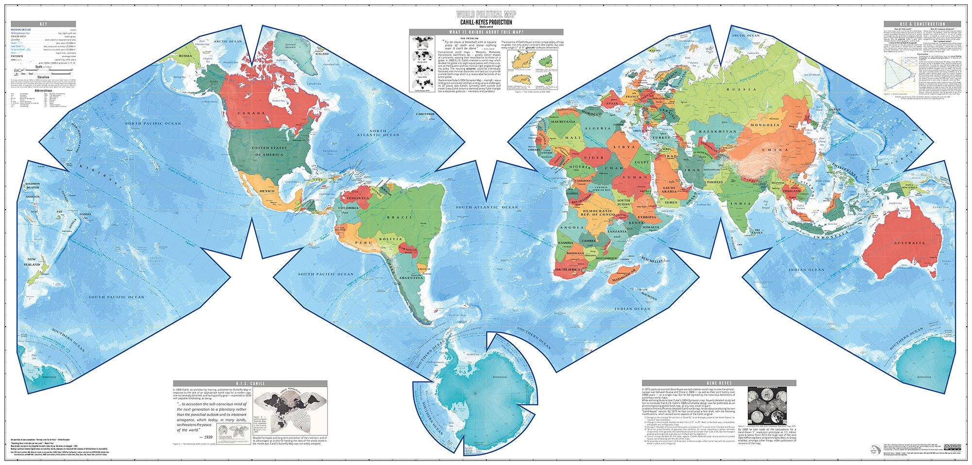 Polyhedral projections improve the accurately of mapping the earth source httpimgurgiccymz waterman polyhedron projection maps gumiabroncs Choice Image