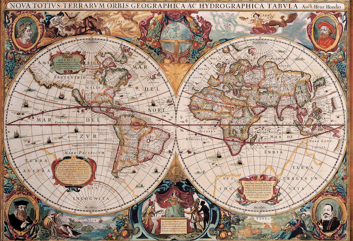 Polyhedral projections improve the accurately of mapping the earth old world map gumiabroncs Image collections