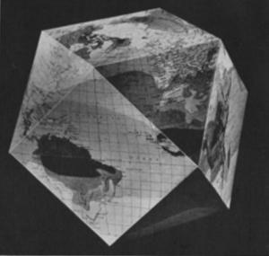 RBF 1st Dymaxion globe