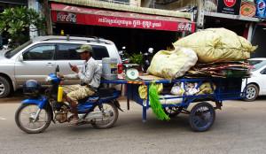 Cargo motorcycle tractor trailer