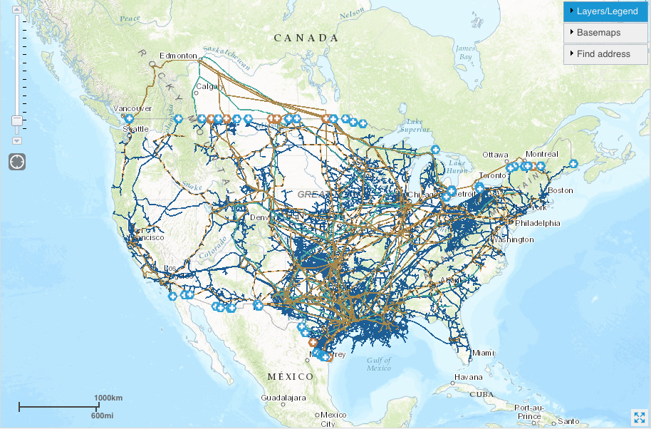 the high density of pipeline systems in many parts of the nation is evident in the last map on the eia s u s energy mapping system website