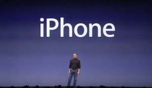 Steve Jobs introduces iPhone